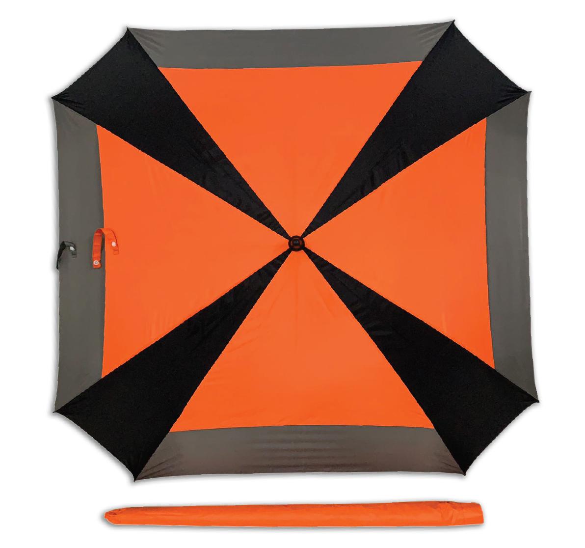 ร่มสี่เหลี่ยม 30 นิ้ว2 ชั้น ออโต้ไฟเบอร์  สลับสี
